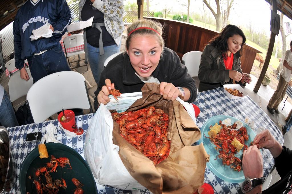 Lisa crawfish boil Woodland Plantation 03-24-10